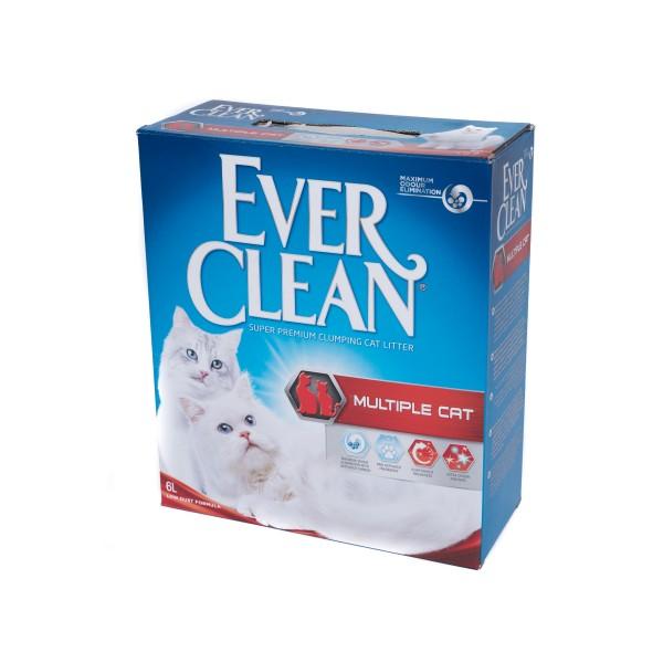 Nisip litieră EVER CLEAN MULTIPLE CAT – pentru casele cu mai multe pisici