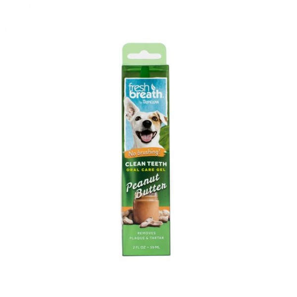 Gel dentar fără periaj cu aromă de unt de arahide TROPICLEAN FRESH BREATH ORAL CARE GEL PEANUT BUTTER