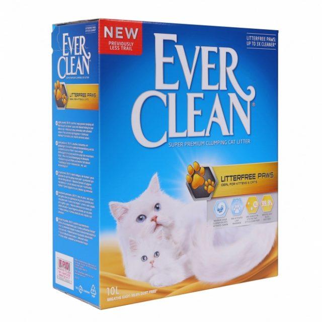 Nisip litieră EVER CLEAN LITTERFREE PAWS – pentru pisici cu blană lungă