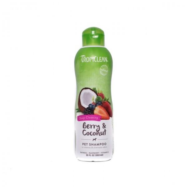 Şampon TROPICLEAN BERRY & COCONUT – Curăţă în profunzime