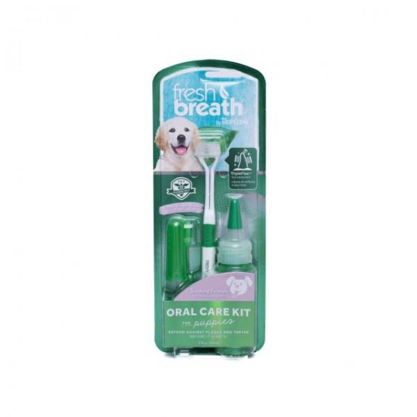 Kit igienă orală pentru căţeluşi TROPICLEAN FRESH BREATH