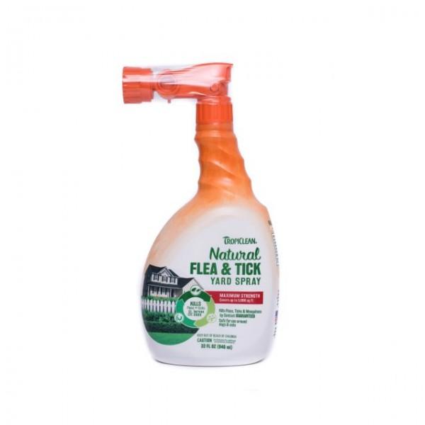 Spray natural adjuvant în combaterea puricilor şi căpuşelor pentru grădină TROPICLEAN FLEA & TICK