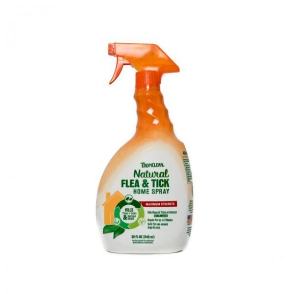 Spray  natural adjuvant în combaterea căpuşelor şi puricilor pentru casă TROPICLEAN FLEA & TICK FOR HOME