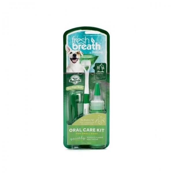 Kit igienă orală pentru câini talie mică TROPICLEAN FRESH BREATH
