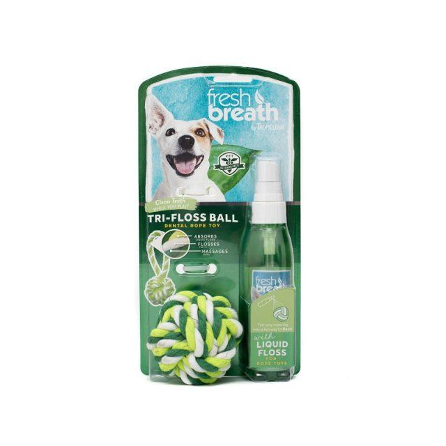 Jucărie pentru curăţarea dinţilor TROPICLEAN TRI-FLOSS BALL