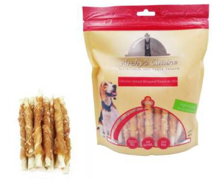 CHICKEN BREAST WRAPPED RAWHIDE STIX