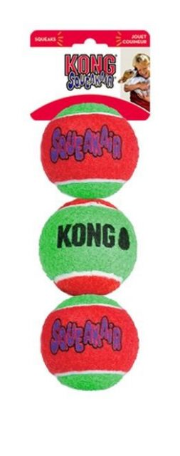 KONG SQUEAKAIR BALLS MEDIUM