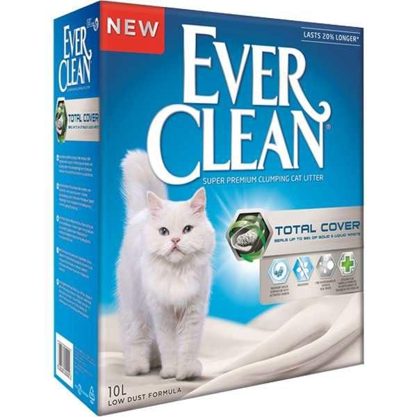 Nisip litieră EVER CLEAN TOTAL COVER – Formulă igienică Plus