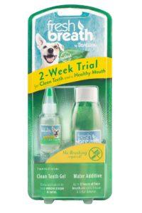 Kit de start – igienă orală pentru câini TROPICLEAN FRESH BREATH – pentru 2 săptămâni