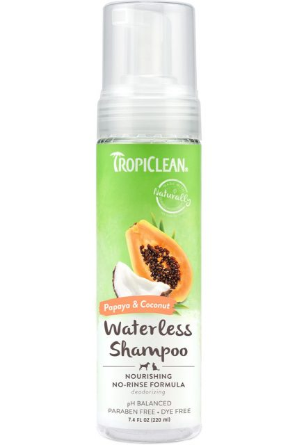 Şampon uscat Papaya & Coconut TROPICLEAN – 220 ml.