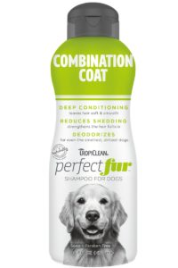 Sampon PERFECTFUR™ Combination Coat by Tropiclean (Golden Retrievers, Border Collie, Cocker Spaniol și rase cu par lung la urechi, coada si picioare si blana dubla pe corp)