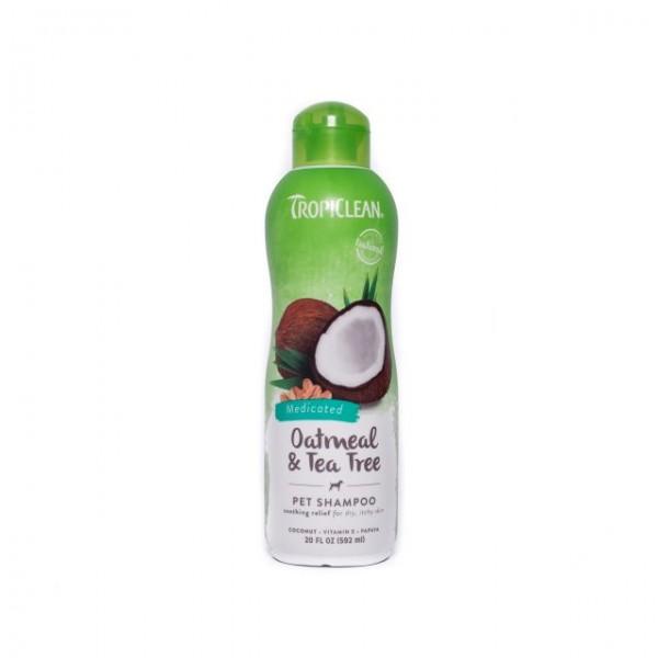 Şampon TROPICLEAN OATMEAL & TEA TREE