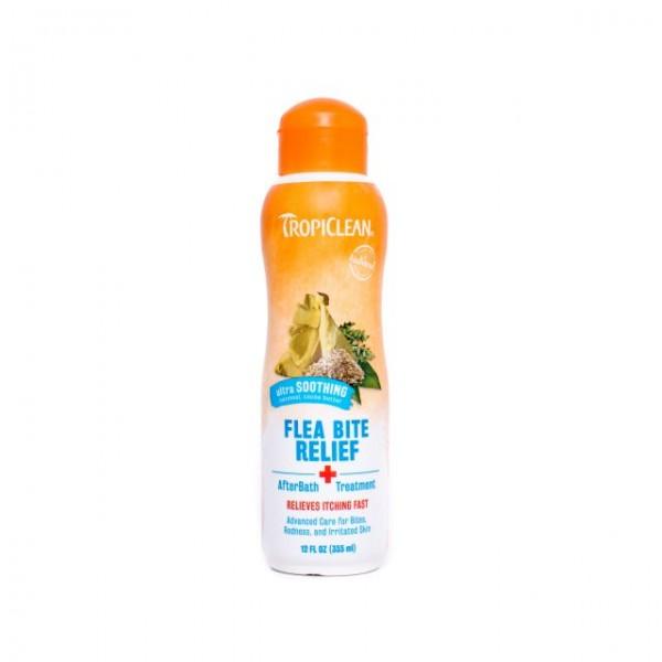 Soluţie naturală după baie adjuvantă în calmarea  muşcăturilor ţânţarilor şi căpuşelor TROPICLEAN FLEA & TICK AFTER BATH