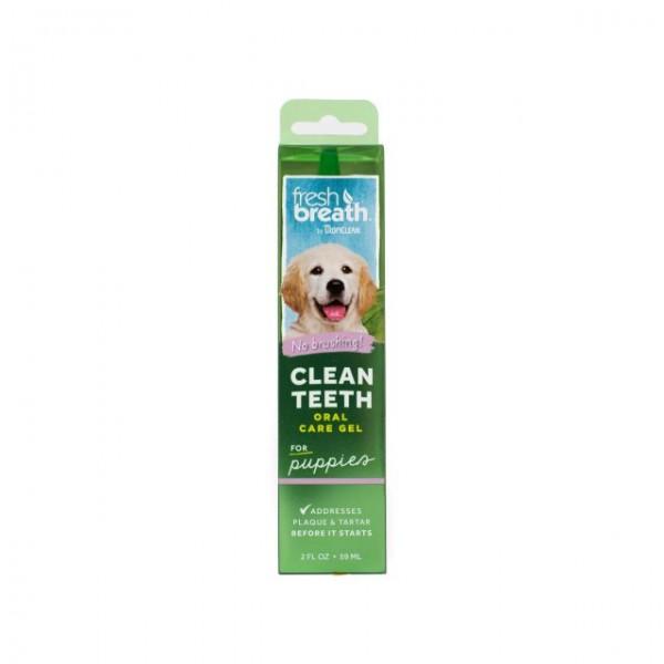 Gel dentar fără periaj pentru căţeluşi TROPICLEAN FRESH BREATH PUPPY ORAL CARE GEL