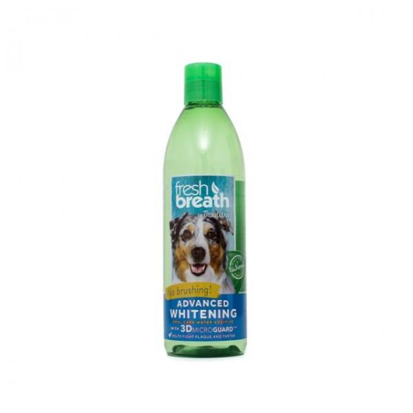 Aditiv pentru apă respiraţie proaspătă cu efect de albire TROPICLEAN FRESH BREATH ADVANCED WHITENING