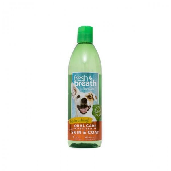 Aditiv pentru apă respiraţie proaspătă & piele şi blană  sănătoasă TROPICLEAN FRESH BREATH PLUS SKIN & COAT