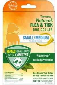 Zgardă Tropiclean Flea and Tick Small/Medium – pentru câini de talie mică şi medie
