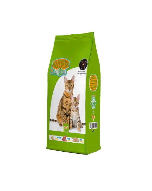 Hrană uscată pisici Nugape Gama Supreme – 32/14 NUTHYA COCKTAIL- sac 20 kg.