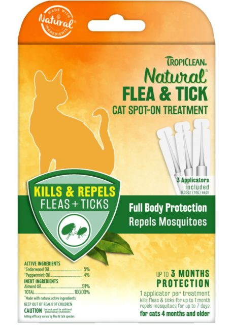 Pipetă Flea & Tick – Cat Spot On Treatment – 3 buc.  – pentru pisici