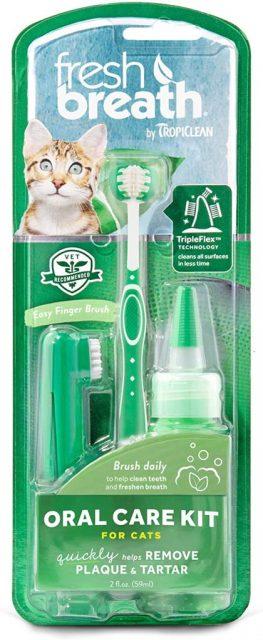 Kit igienă orală pentru PISICI TROPICLEAN FRESH BREATH