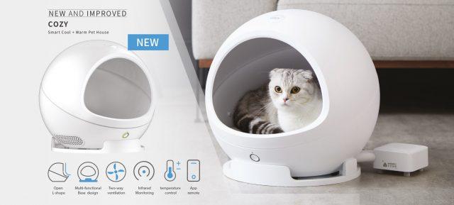 """Casuta """"smart"""" pentru pisici si caini de talie medie PETKIT COZY Smart Cool + Warm Pet House"""